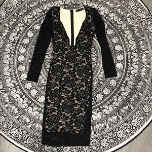 Sexy Low MIDI Lace Dress